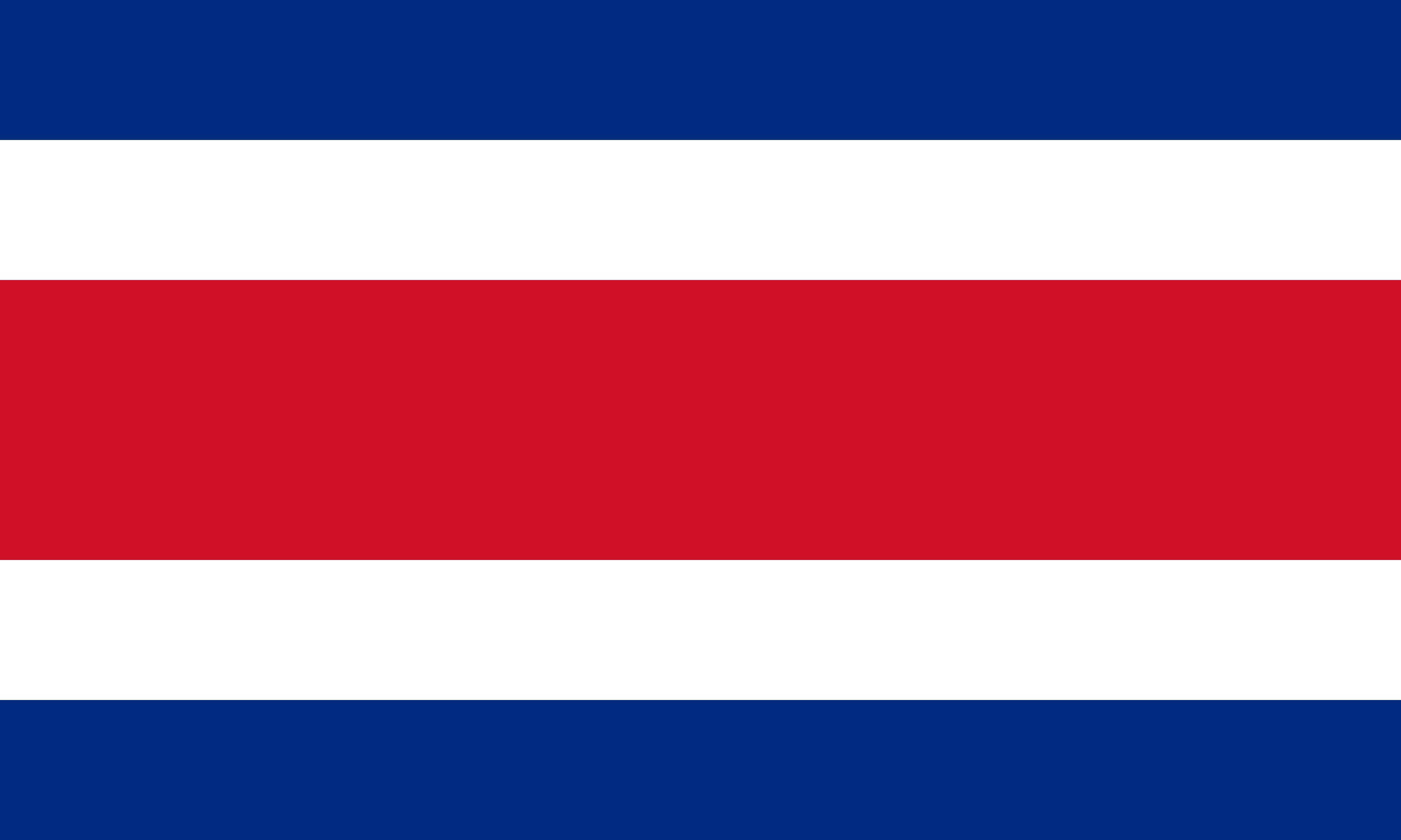 Bandeira da Costa Rica.