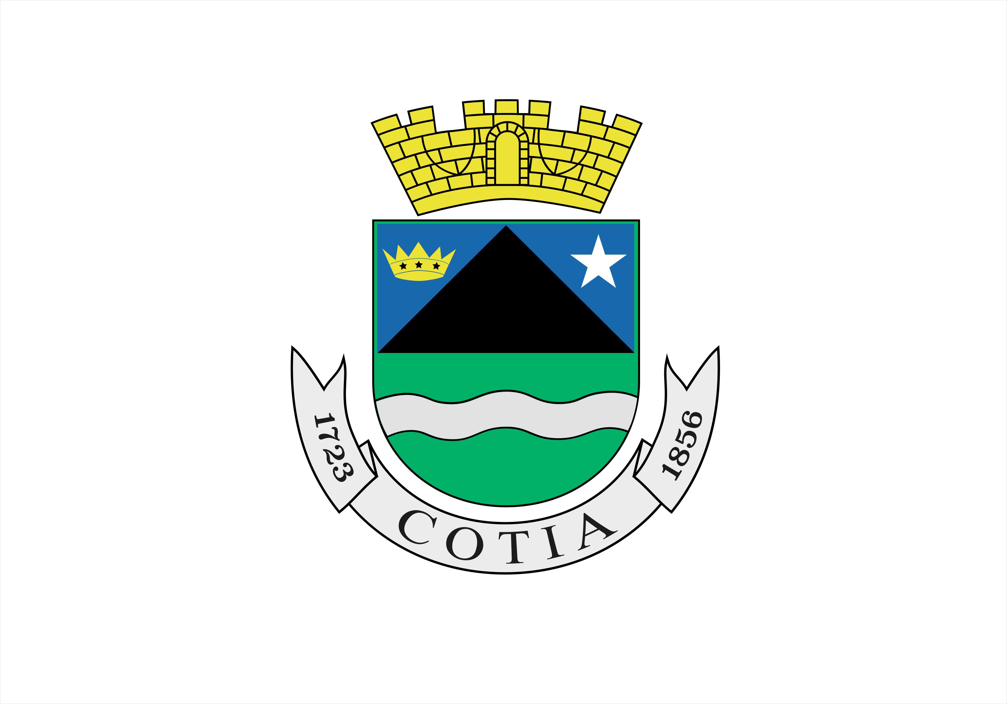 Bandeira da cidade de Cotia SP.