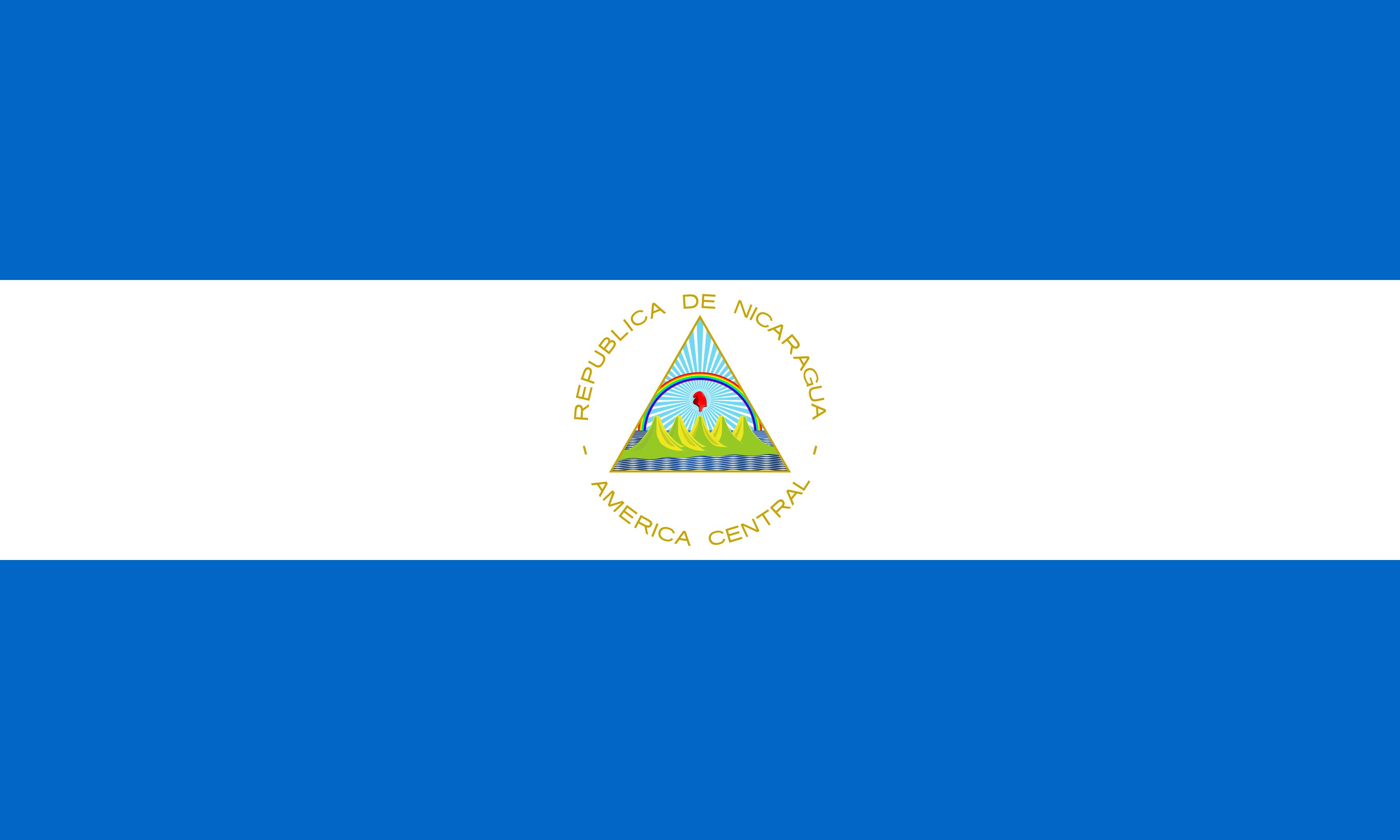 Bandeira da Nicarágua.
