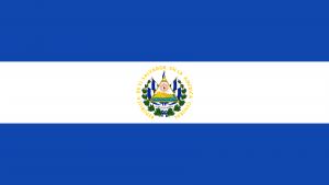 Bandeira de El Salvador.
