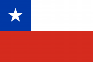 Bandeira do Chile.