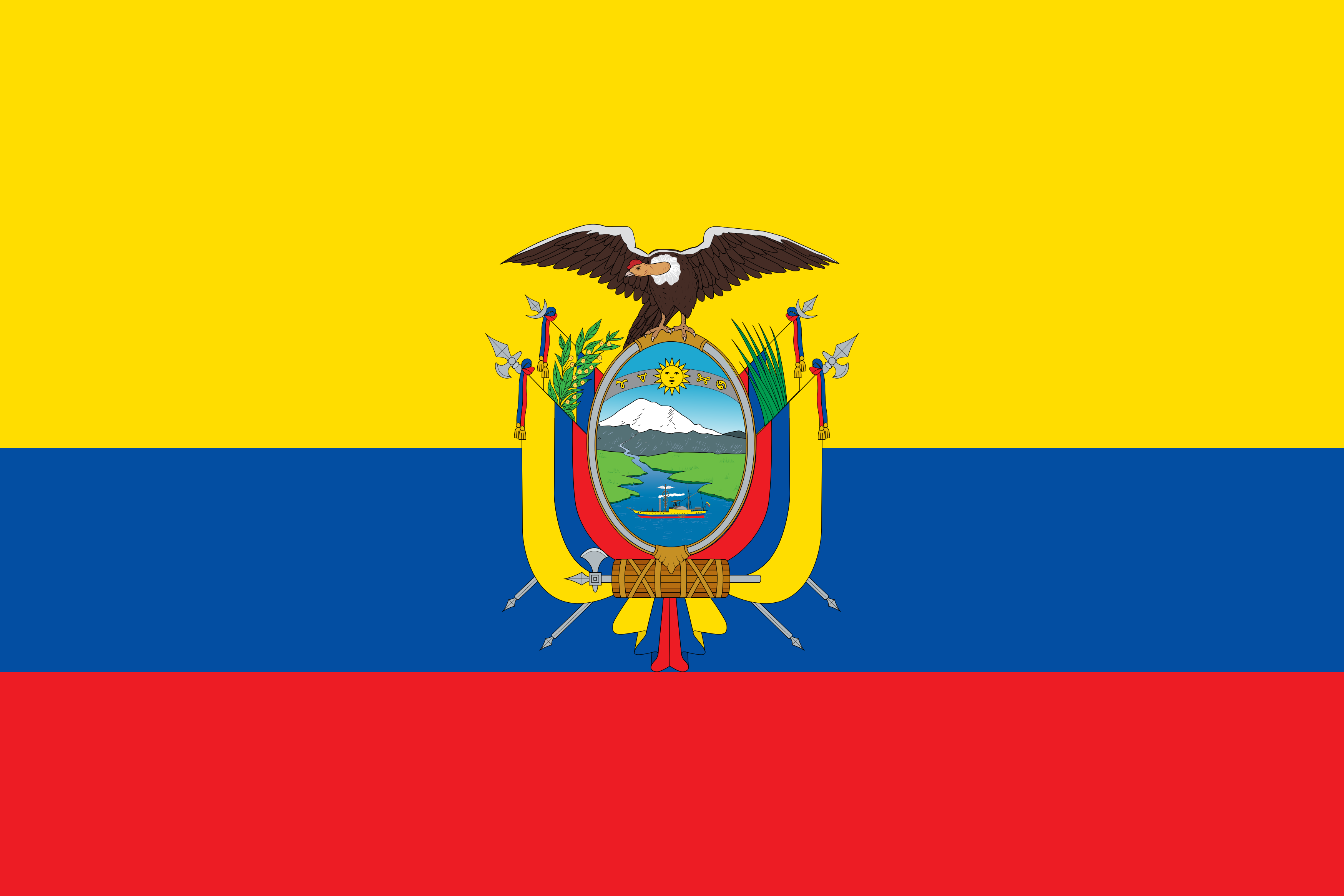 Bandeira do Equador.