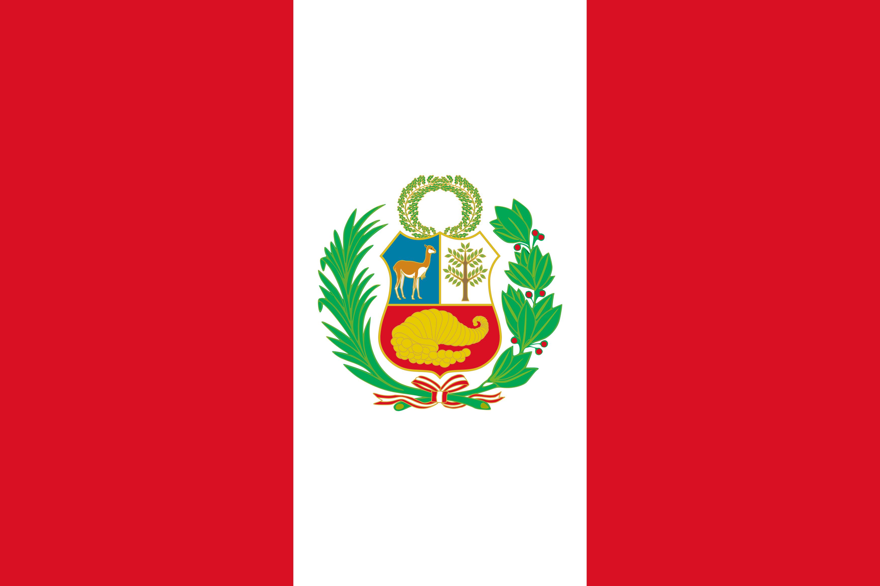 Bandeira do Peru.