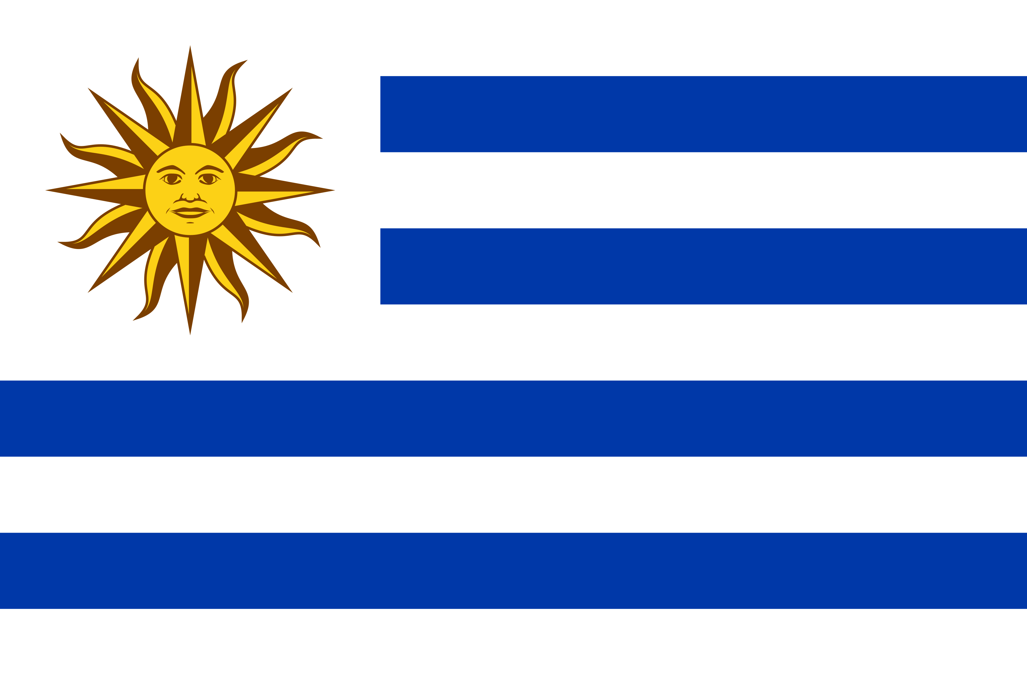 Bandeira do Uruguai png.