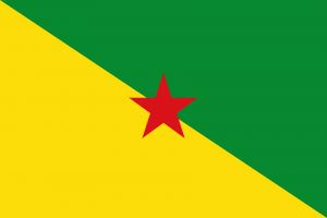 Bandeira da Guiana Francesa.