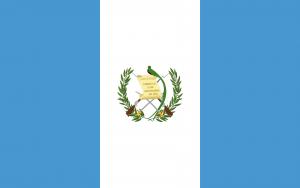 Bandeira da Guatemala.