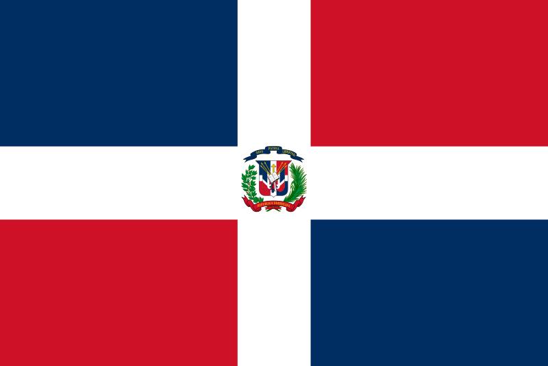 bandeira republica dominicana 2 - Bandeira da República Dominicana