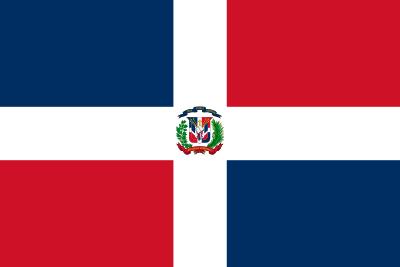 Bandeira da República Dominicana.