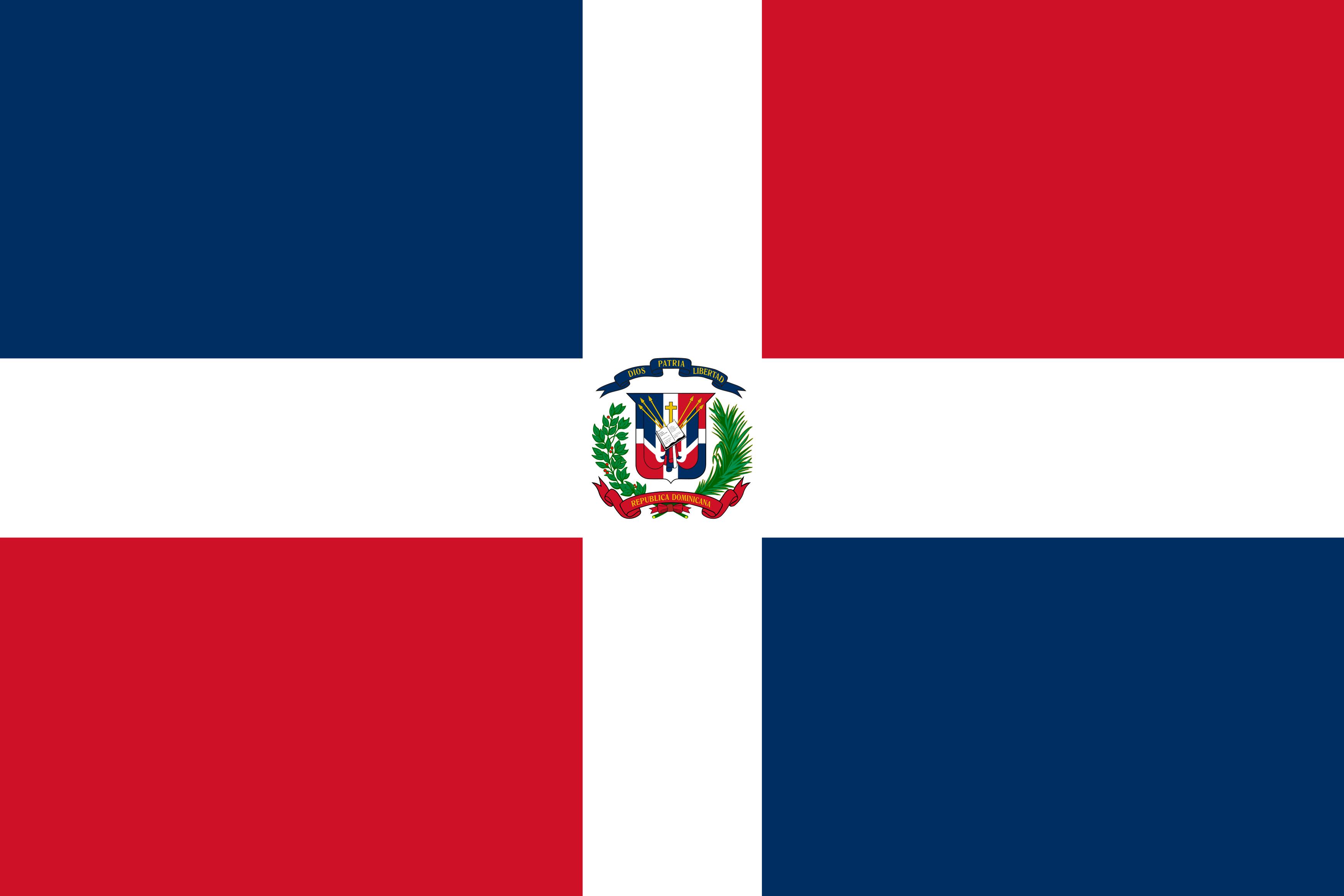 bandeira republica dominicana - Bandeira da República Dominicana