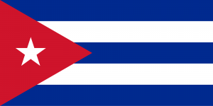 Bandeira de Cuba.
