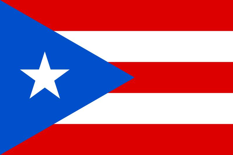 Bandeira de Porto Rico.