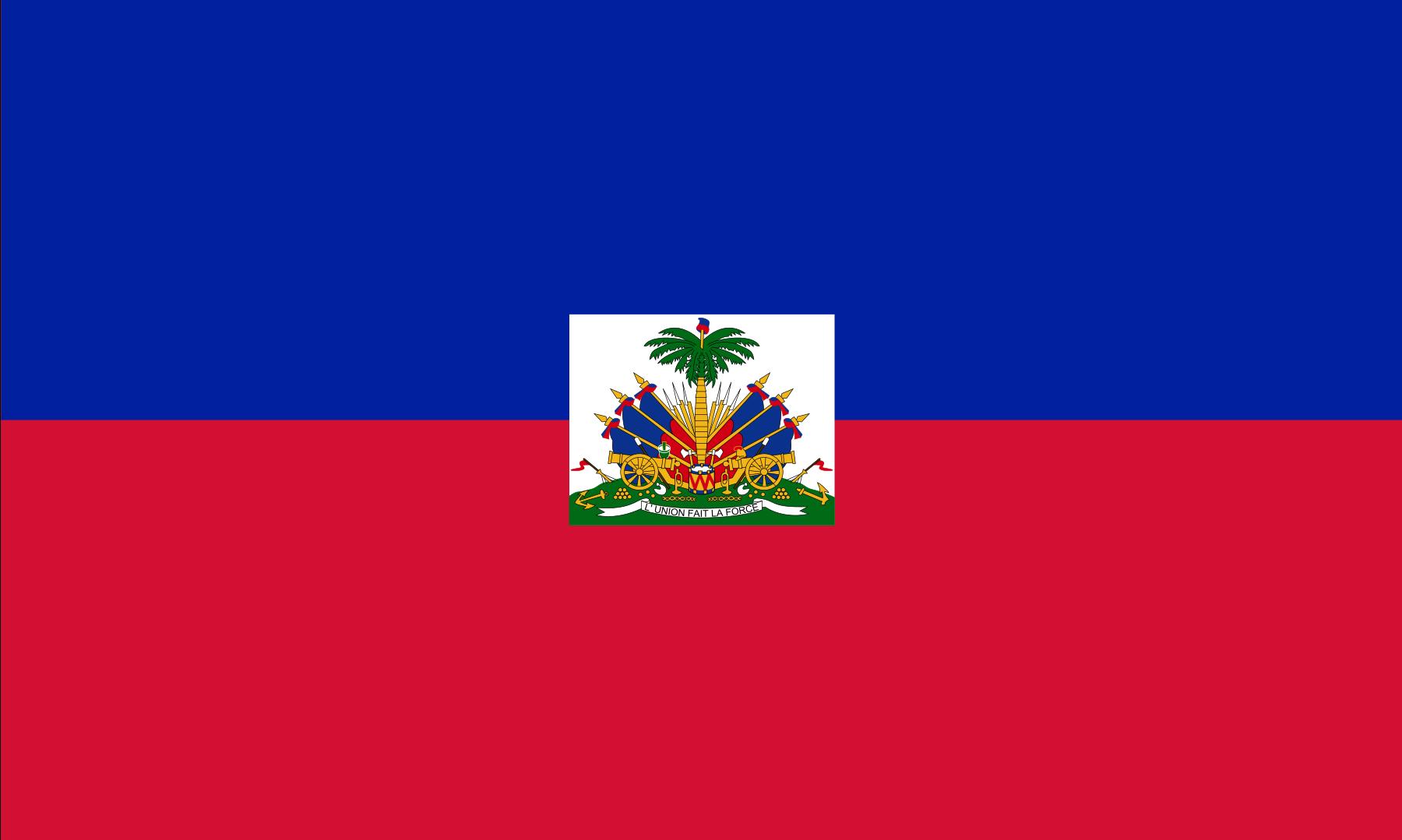 Bandeira do Haiti.